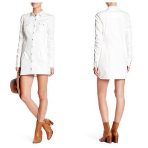Free People Dynomite Denim Shirt Dress